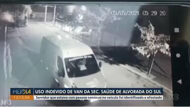 Sindicância investiga uso indevido de van da Secretaria de Saúde de Alvorada do Sul - Servidor que estava com pessoa seminua no veículo foi identificado e afastado.