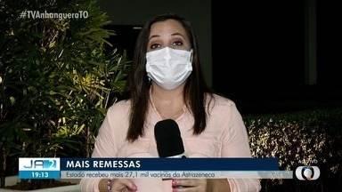 Tocantins recebe mais de 27 mil vacinas da Astrazeneca - Tocantins recebe mais de 27 mil vacinas da Astrazeneca