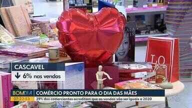 Comerciantes acreditam que vendas para o Dia das Mães não devem ultrapassar 2020 - 29% dos comerciantes acreditam que as vendas vão ser iguais a do ano passado.