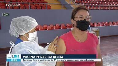 Encerra vacinação de primeiro lote para pessoas com comorbidades em Belém - Encerra vacinação de primeiro lote para pessoas com comorbidades em Belém