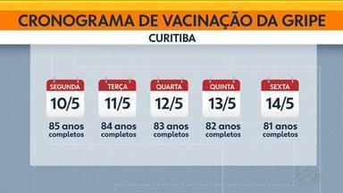 Está baixa a procura pela vacina da gripe no Paraná - Em Curitiba, essa semana serão vacinados os idosos entre 85 e 81 anos.