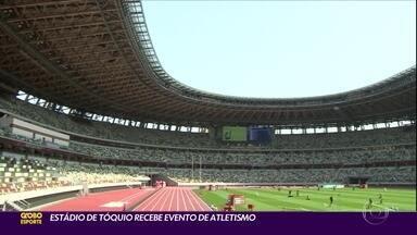 Estádio de Tóquio recebe evento de atletismo - Estádio de Tóquio recebe evento de atletismo