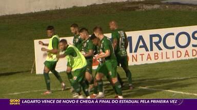 Lagarto vence o Itabaiana por 2 a 0 e disputa título sergipano pela primeira vez - Verdão encara o Sergipe na decisão.