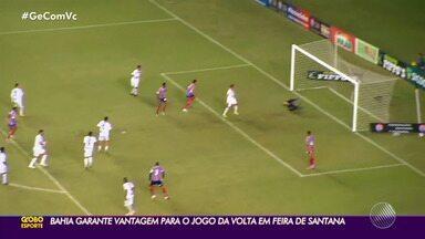 Bahia vence o Bahia de Feira com gol de Pablo e abre vantagem na semifinal do Baiano - Tricolor cresce no segundo tempo, sai na frente e fica a um empate de mais uma final de Campeonato Baiano.
