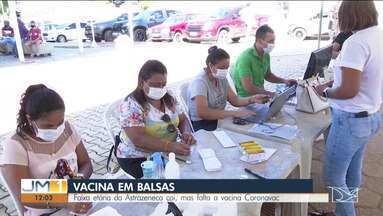 Vacinação contra a Covid-19 em Balsas - Faixa etária da AstraZeneca cai, mas falta a vacina Coronavac.