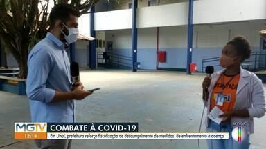 Prefeitura de Unaí reforça fiscalização das medidas de prevenção à Covid-19 - Fiscalizações foram intensificadas no município.