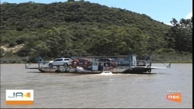 Balsa do Rio Araranguá está temporariamente desativada - Balsa do Rio Araranguá está temporariamente desativada