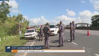 Criança de 3 anos morre após ser atropelada junto com a avó por viatura da PM - Acidente aconteceu na Rodovia Régis Bittencourt, em Cajati, no Vale do Ribeira.