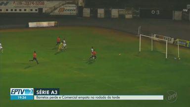 Comercial empata e Barretos perde na rodada da Série A3 - Veja os gols da tarde desta segunda-feira (10).
