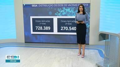 ES já recebeu quase 1,5 milhão doses de vacinas contra o Coronavírus - Veja a seguir.