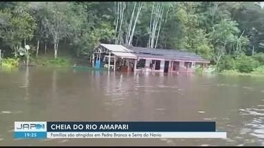 Cheia do Rio Amapari atinge famílias em Serra do Navio e Pedra Branca - Defesa Civil monitora elevação das águas na região das duas cidades, no Centro-Oeste do Amapá.