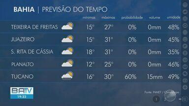 Veja como fica a previsão do tempo em Salvador e municípios da Bahia - Confira.