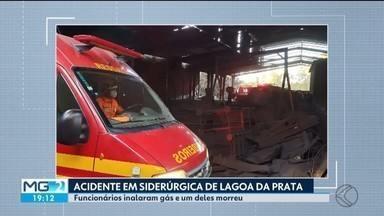 Acidente em siderúrgica de Lagoa da Prata deixa um morto e três feridos - Segundo o Corpo de Bombeiros, os quatro funcionários trabalhavam em uma plataforma de carvão quando houve vazamento de monóxido de carbono.