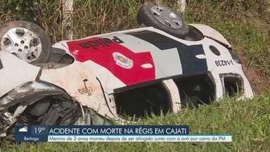 Menino de 3 anos morre após ser atropelado junto com a avó por viatura da PM - Acidente aconteceu na Rodovia Régis Bittencourt, na altura de Cajati.