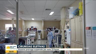 Governo de SC prorroga suspensão das cirurgias eletivas por mais 72 horas - Governo de SC prorroga suspensão das cirurgias eletivas por mais 72 horas