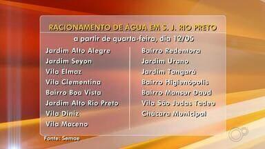Rio Preto tem racionamento de água para 100 mil moradores a partir de quarta-feira - São José do Rio Preto (SP) começará o racionamento no fornecimento de água para 100 mil moradores a partir desta quarta-feira (12). O racionamento está começando mais cedo este ano, em relação ao ano passado.