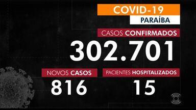 Paraíba tem 302.701 casos confirmados por coronavírus - Dados são do Boletim Epidemiológico dessa segunda-feira (11)
