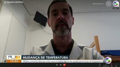 Médico fala sobre doenças comuns em época de mudanças bruscas de temperatura - Especialista afirmou que as doenças respiratórias aparecem mais durante este período.
