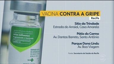 Profissionais da educação e pessoas acima dos 60 anos podem ser vacinados contra a gripe - No Recife três pontos de vacinação contra a gripe funcionam de maneira exclusiva. Não é preciso agendar o atendimento.