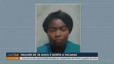 Mulher é morta a facadas em Marechal Cândido Rondon - Ex-companheiro da vítima é suspeito do crime.