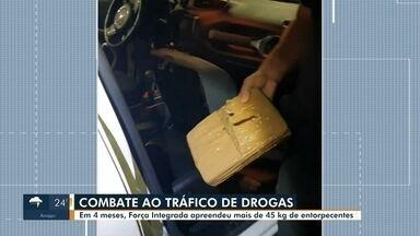 Combate ao tráfico de drogas em Roraima - Em 4 meses, Força Integrada de Combate ao Crime Organizado, coordenada pela Polícia Federal, apreendeu mais de 45 kg de entorpecentes no estado.