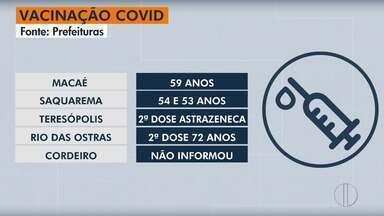 Confira o calendário de vacinação contra Covid em Macaé, Rio das Ostras e Saquarema - Cordeiro não divulgou o calendário.