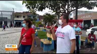 Professores da rede pública de Itabaianinha declaram greve - Professores da rede pública de Itabaianinha declaram greve.