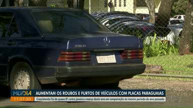 Aumentam os roubos e furtos de veículos com placas paraguaias - Crescimento foi de quase 8% entre janeiro e março desde ano em comparação ao mesmo período do ano passado.