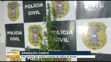 Três pessoas são presas suspeitas por tráfico de drogas na região do Araguaia - Três pessoas são presas suspeitas por tráfico de drogas na região do Araguaia.