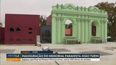 Memorial Paranista João Turin é inaugurado hoje (14) - Espaço, que fica no Parque São Lourenço, reúne 100 obras do artista.
