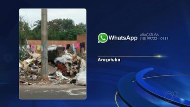 Moradores de Araçatuba fazem reclamações sobre problemas nas cidades - Moradores de Araçatuba (SP) enviaram reclamações à TV TEM sobre problemas na cidade. Veja o posicionamento das autoridades responsáveis.