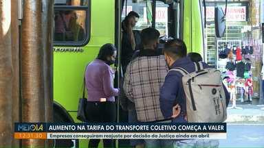 Aumento na tarifa do transporte coletivo começa a valer em Foz do Iguaçu - Empresas conseguiram reajuste por decisão da Justiça ainda em abril.