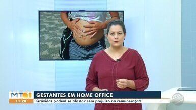 Grávidas terão que trabalhar em home office em MT - Decisão considera o fato das mulheres gestantes serem do grupo de risco para a covid-19