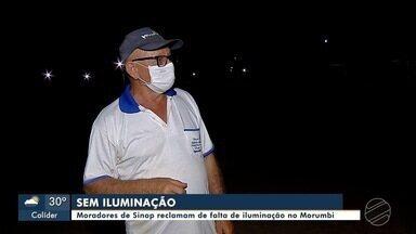 Bairro Morumbi tem trechos sem iluminação pública - Moradores cobram a prefeitura para resolver problema que persiste desde janeiro desse ano