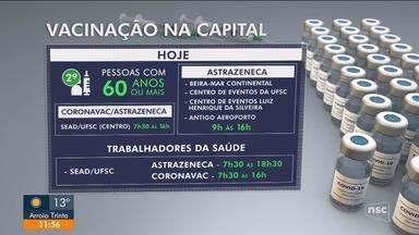 Confira o andamento da vacinação contra a Covid na Grande Florianópolis - Confira o andamento da vacinação contra a Covid na Grande Florianópolis