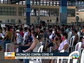 Covid-19: pessoas com 58 anos ou mais começam a ser vacinadas em São Luís - Vacinação contra Covid-19.