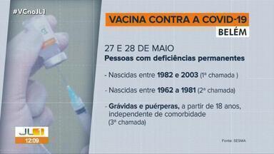 Confira o calendário de vacinação contra Covid-19 de Belém e Ananindeua - Confira o calendário de vacinação contra Covid-19 de Belém e Ananindeua.