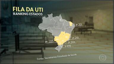 Em uma semana, fila de pacientes com Covid à espera de UTI cresce 40% no Brasil - O levantamento feito pela GloboNews mostra que 2.126 pacientes com Covid-19 aguardam uma vaga para tratamento intensivo.
