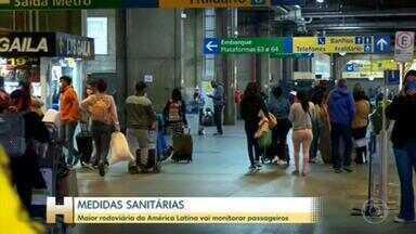 SP começa aplicar medidas sanitárias no Terminal Tietê - Vigilância em Saúde fará o controle dos passageiros que passam pelo maior terminal da América Latina. A ação começa com ônibus vindos do Maranhão.