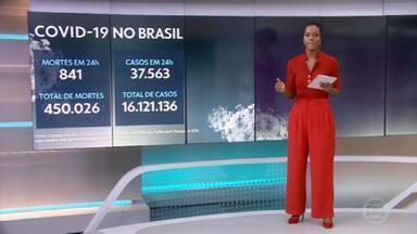 Brasil passa das 450 mil mortes por Covid - São 450.026 óbitos no país desde o início da pandemia.