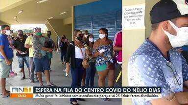Ginásio Nélio Dias, em Natal, registra filas para atendimento em centro Covid - Ginásio Nélio Dias, em Natal, registra filas para atendimento em centro Covid