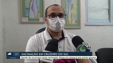 Saúde de Cruzeiro do Sul diz que procura por vacina contra Covid-19 é baixa - Saúde de Cruzeiro do Sul diz que procura por vacina contra Covid-19 é baixa