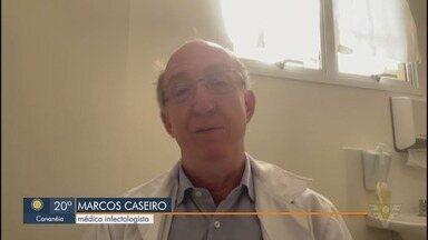 Infectologista Marcos Caseiro fala sobre registro recorde de casos de Covid-19 na região - Baixada Santista confirmou 915 novos casos da doença nas últimas 24h.