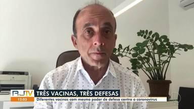 Entenda as diferenças entre os três tipos de vacinas contra a Covid disponíveis no RJ - Além da Coronavac e da AstraZeneca, algumas cidades também já estão recebendo doses da Pfizer.