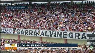 Reveja reportagens marcantes exibidas nos 42 anos da TV Tapajós - Pedido de telespectador é de matéria histórico de quando o São Raimundo conquistou o título da Série 'D', em 2009.