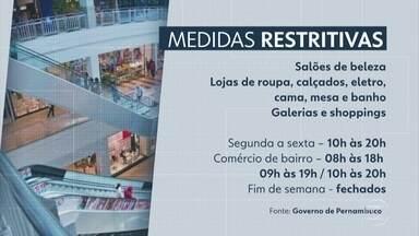 PE torna mais rigorosas medidas restritivas para conter a Covid - Veja o que pode funcionar no Recife, na Região Metropolitana e no interior.