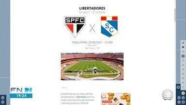 São Paulo entra em campo pela Libertadores nesta terça-feira - Veja outros destaques do ge.