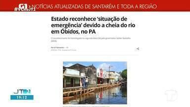 Reconhecimento de 'estado de emergência' é Óbidos é notícia em destaque no G1 Santarém - Acesse a reportagem completa no g1.com.br/tvtapajos
