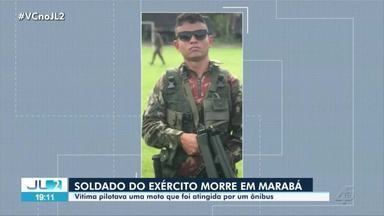 Soldado do Exército morre em acidente na BR-222, em Marabá - Jaime Pereira da Costa Junior, de 23 anos, pilotava uma moto que foi atingida por um ônibus.