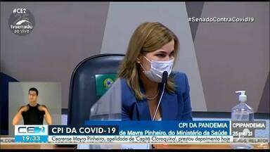 Cearense Mayra Pinheiro depõe na CPI da Covid-19 - Confira mais notícias em g1.globo.com/ce